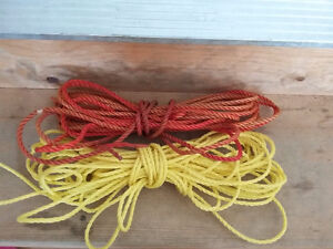 Lot of 2 ropes yellow and red colour excellent condition London Ontario image 2