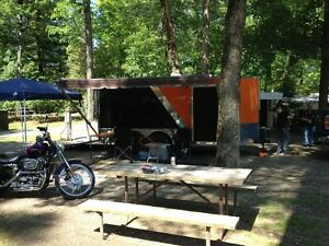 Harley Davidson Custom 7x14 V-Nose cargo toy hauler RV trailer