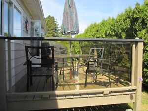 EXTERIOR  TEMPERED GLASS RAILINGS PANELS