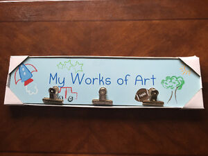 """My works of Art"" wall plaque"