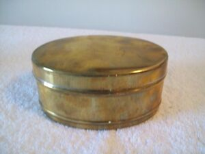 VINTAGE BRASS OVAL BOX WITH  LID
