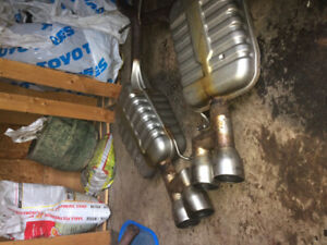 Downpipe 3 pouces custom en stainless