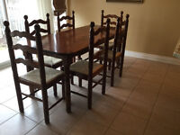 Custom Made Table with 8 Matching FRINI Italian Made Chairs