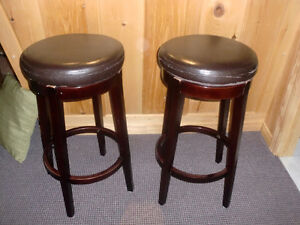 Set of Swivel top Bar stools, 30 inches high