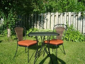 Apartment Patio Furniture - Table w/2 chairs & cushions