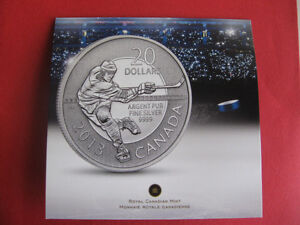 2013 $20 Silver Hockey Coin
