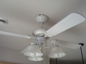 Ventilateur de plafond blanc