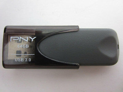 PNY 64 GB Turbo USB 3.0 Flash Drive - Black - (P-FD64GTBAT4-GE) - VG
