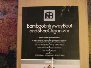 Bamboo boot and Shoe organizer