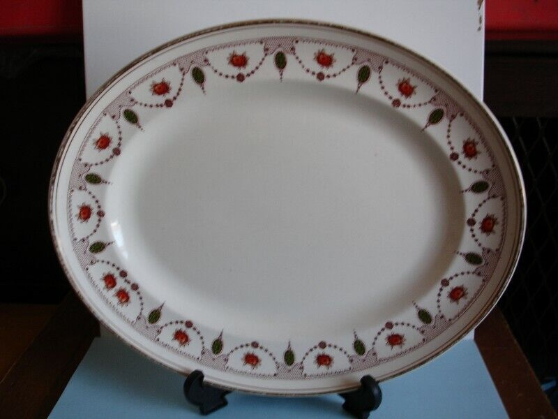 """Vintage Midwinter 11"""" Oval Plate.ca. 1940's."""