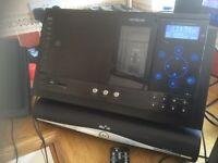 HITACHI AXM209UK VERTICAL DAB MICRO HI FI - IPOD DOCK RADIO STEREO & SPEAKERS CAN DELIVER.