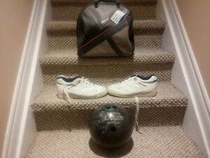Bowling Ball Shoes and Bag
