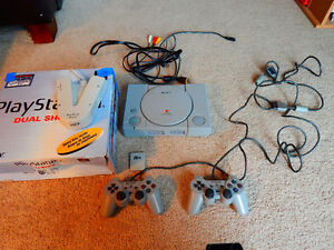 Playstation with 18 Games + Controllers + Multitap London Ontario image 4