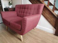 2-seat sofa red