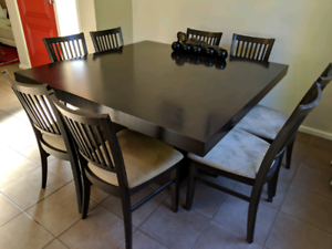 9 piece square dining table suite