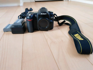 Nikon D80 DSLR - body only with 2 batteries and charger