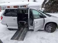 Dodge Grand Caravan adapted for passanger in wheelchair.