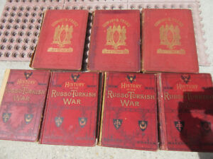 7 ARMY BOOKS - 1800's