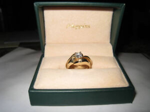 Further Reduced: .50ct Solitaire Engagement Ring with 2 Bands