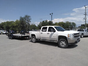 Hauling Service With 18' Flat Deck Trailer