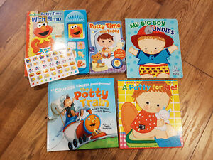 5 Potty Training Books - New Condition Boys