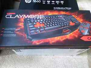 Lightly used gaming key board and hp printer