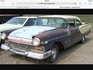 WANTED : 1957 Ford 2 dr car