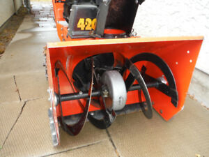 4 h.p. - 20 in. snowblower ,great condition . 5 speed and rev.
