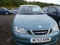 2003 SAAB 9 3 2.0t Linear NICE TURQUOISE COLOUR