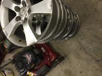 4 Mag sans pneu de mazda 3 GT 2005 17 pouce Peut instaler vos p