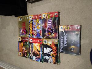 Nintendo 64 (N64) Boxed games.