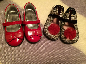 Like New! (2) Pairs of Little Girl Shoes Size 6