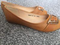 Camel Colour Dolly Shoes