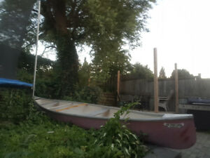 16 ft fiberglass canoe for sale