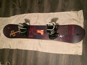 Rome Artifact 147 Snowboard w/ Ride LX Bindings & Helmet