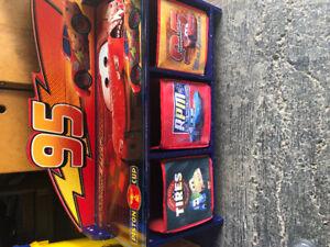 Cars toy storage bench