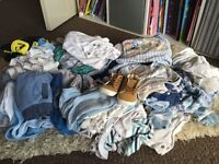 Bundle of boys clothes newborn 0-3 months car boot