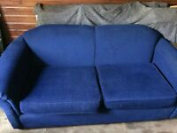 Navy blue 2 seater sofa