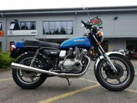1978 Suzuki GS750 E UK Road Registered Import 37,280 Miles Excellent Condition