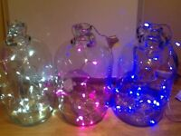 💡Large Demi Jon clear glass jars - indoor/outdoor lights