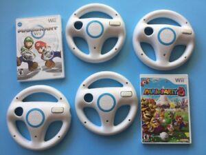 Mario Party 8 -60$ / Mario Kart-35$/ Volants Wii-10$chacun
