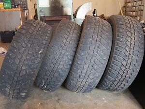 4 Studded Winter Tires for sale