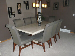 Made in Italy Marble Dining Table, with *optional chairs*