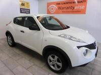 2012 Nissan Juke 1.5dCi 110 Visia DIESEL, TINTS, WHITE, *BUY FOR ONLY £36 A WEEK