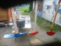PICK AXE AND 8 POUND SLEDGE HAMMER EXCELLENT CONDITION