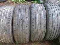 235X55r17 Continental Set of 4