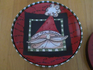 Brand new in box holiday theme set of 4 dessert plates London Ontario image 7