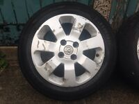 Corsa c alloys need work offer or swap for car stuff all tyres good tread