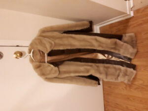 leather and mink coat. Excellent condition