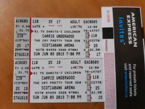 2 Carrie Underwood tickets